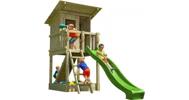 Spatiu de joaca din lemn Blue Rabbit Beach Hut poza kivi.ro