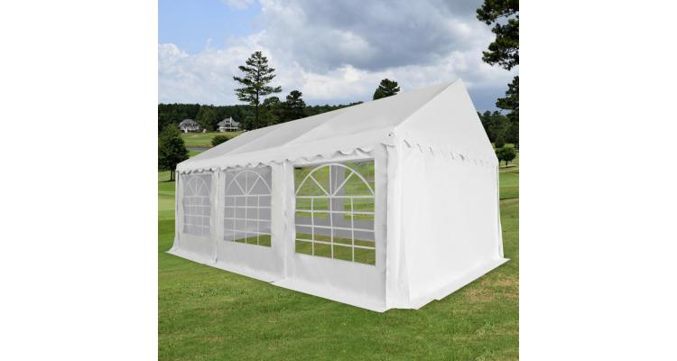 Pavilion gradina PVC 4 x 6 m Alb