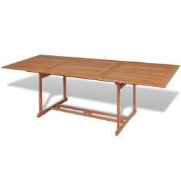 Masă de exterior dreptunghiulară, 240 x 90 x 75 cm, lemn de tec
