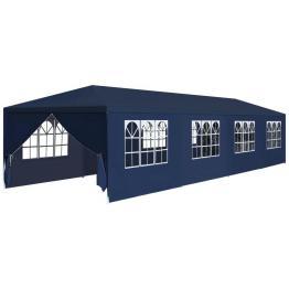 Pavilion de grădină 3 x 12 x 2,55 m albastru