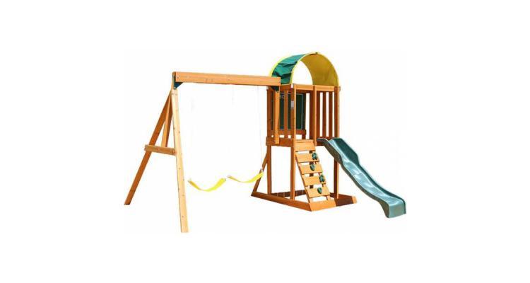 Spatiu de joaca din lemn de cedru Ainsley cu leagane Kidkraft poza kivi.ro