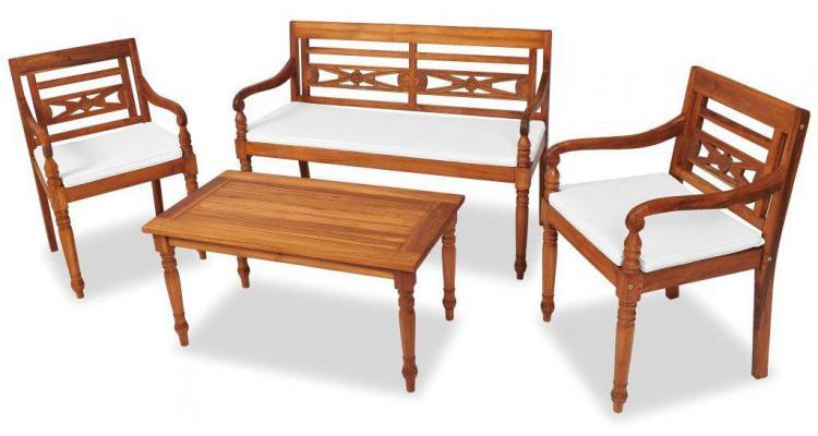 Set mobilier de grădină Indies, 7 piese, tec poza kivi.ro