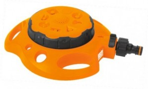 Aspersor 8 modele de pulverizare, presiune 4 bari, debit 8 l/min
