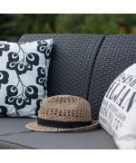 Canapea de gradina CORFU II LOVE SEAT Grafit/ Gri-rece