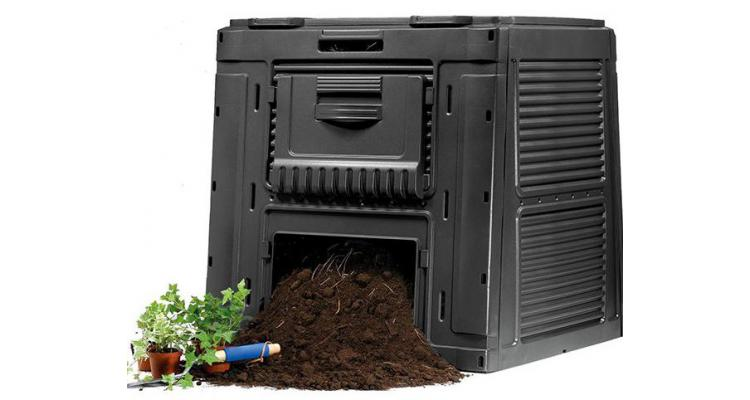 Compostor ecologic Gradina - 470 L Negru imagine 2021 kivi.ro