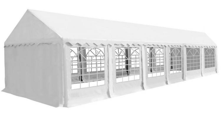 Pavilion de grădină PVC 6 x 12 m alb
