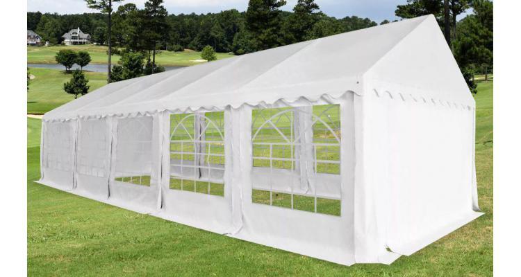 Pavilion de grădină PVC 5 x 10 m alb