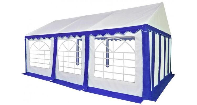 Pavilion Gradina Pvc Albastru Alb Poza