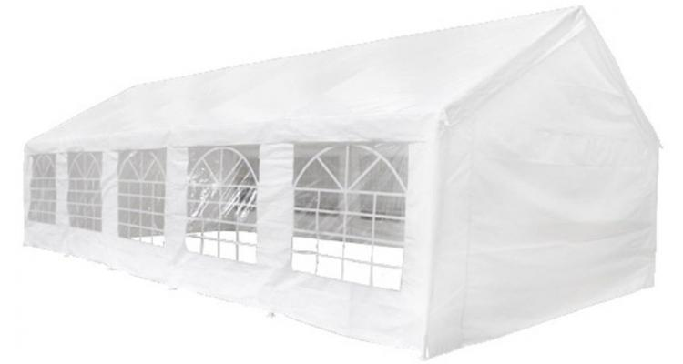 Pavilion pentru petreceri, 10 x 5 m, Alb