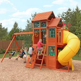 Complex de joaca din lemn Canyon Ridge Kidkraft