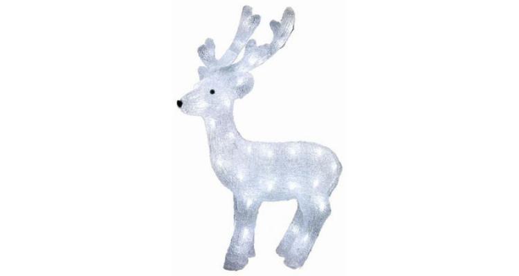 Decoratiune pentru Craciun, tip Ren din ACRIL , HOME, 50 LED-uri, lumina alba calda poza kivi.ro