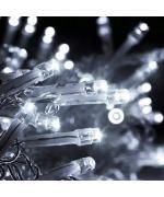 Instalatie de Craciun, tip franjuri / turturi, 4 m, 120 leduri, 8 jocuri de lumini, alb rece