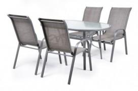 Ekonomy Set 4 Masa cu 4 scaune schelet metalic