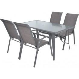 Sofia Set 4 Masa cu 4 scaune schelet metalic