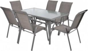 Sofia Set 6 Masa cu 6 scaune schelet metalic