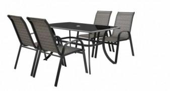 Honey Set 4 Masa cu 4 scaune schelet metalic