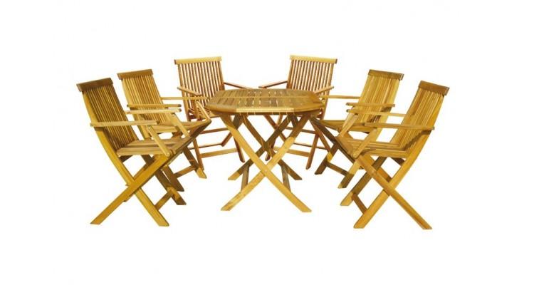 Basic Set 6 Masa cu 6 scaune lemn masiv poza kivi.ro