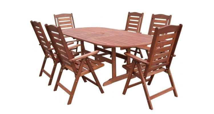 Prague Set Masa cu 6 scaune lemn masiv