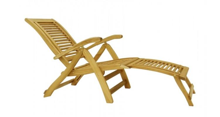 Camberet Lounger Scaun reglabil de lux din lemn masiv poza kivi.ro