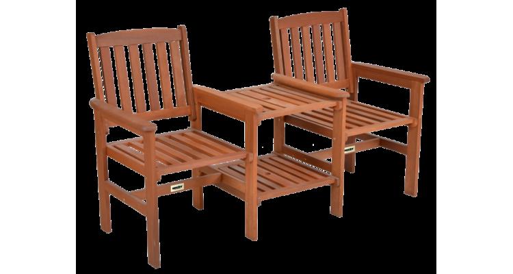 Teebench Set din lemn masiv doua scaune si masuta imagine 2021 kivi.ro