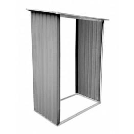 53X33 Magazie pentru depozitat lemne cadru metalic 163 x 102 x 199 cm