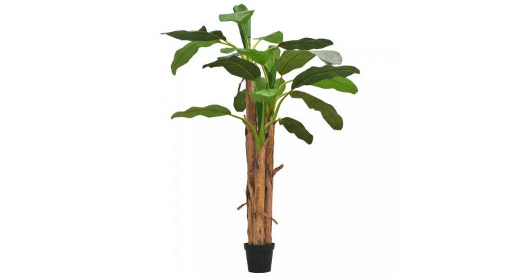 Bananier Artificial Ghiveci Verde Poza