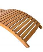 Sezlong din lemn masiv de acacia, 190 x 60 x 51 cm, maro