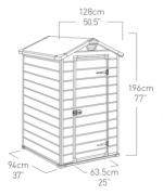 Casuta de gradina Manor 4x3, 128x94x196 cm