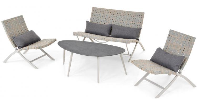 Set mobilier gradina 4 piese Cali gri imagine 2021 kivi.ro
