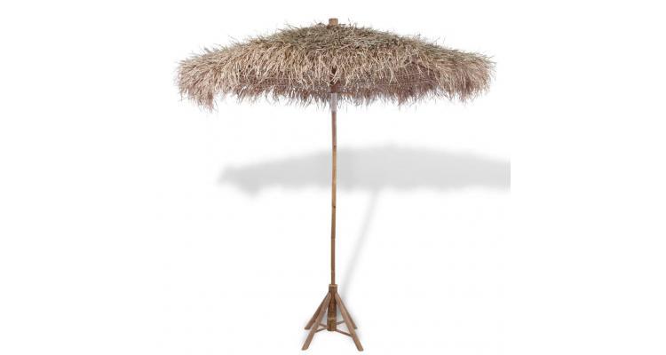 Umbrelă din bambus cu umbrar din frunze de bananier, 210 cm imagine 2021 kivi.ro