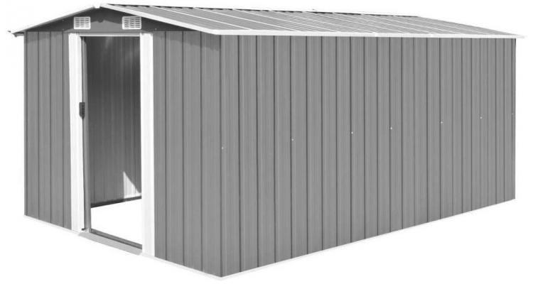 Sopron de gradina, 257 x 398 x 178 cm, metal, gri