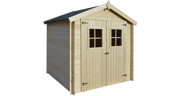 Șopron, cabană bușteni, căsuță de grădină, 2 x 2 m, 19 mm, lemn