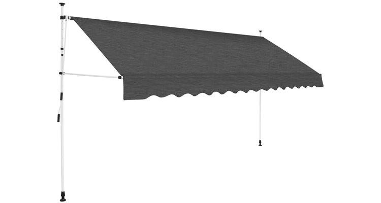 Copertina retractabila manual, 350 cm, antracit poza kivi.ro