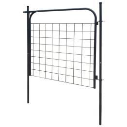 poartă pentru gard de de gradină 100 x 100 cm antracit