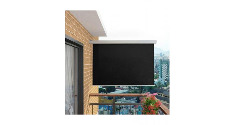 Copertina laterala multifunctionala terasa, 180 x 200 cm, negru imagine 2021 kivi.ro