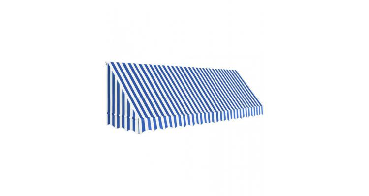 Copertina de bistro, albastru si alb, 400 x 120 cm poza kivi.ro