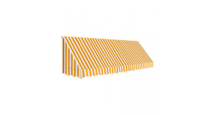 Copertina de bistro, portocaliu si alb, 400 x 120 cm