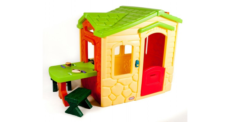 Casuta picnic cu terasa colores Little Tikes