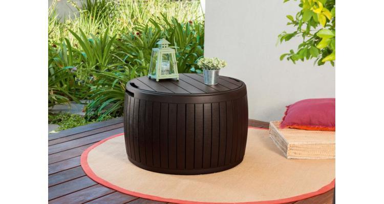 Masuta rotunda pentru depozitare Wood Maron