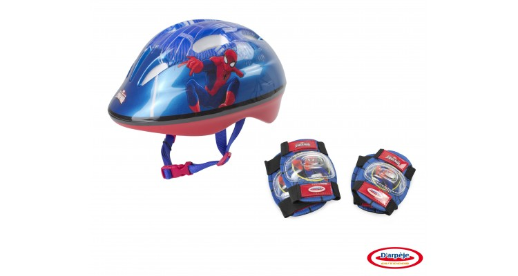 SPIDERMAN - SET PROTECTIE (CASCA, GENUNCHIERE, COTIERE) poza kivi.ro
