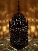 Lampa metalica marocana lucrata manual, 30cm inaltime