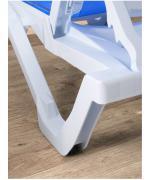 Sezlong albastru din aluminiu si textilena YATI, 68.8x170x31/99