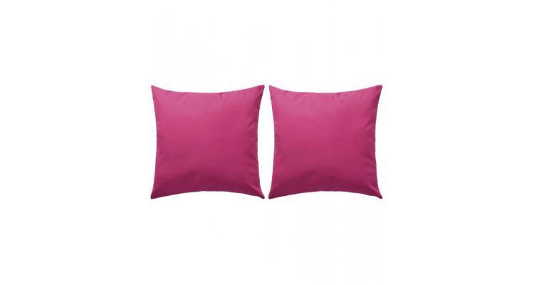 Perne de exterior, 2 buc., roz, 45 x 45 cm poza kivi.ro