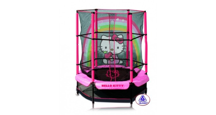Trambulina copii 140 cm Hello Kitty Injusa imagine 2021 kivi.ro