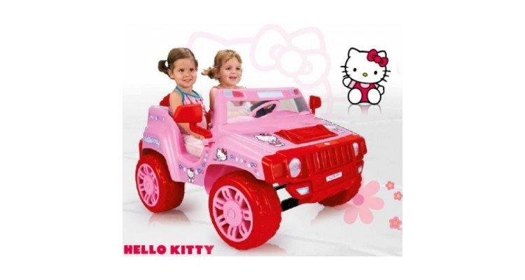 Masinuta electrica copii Hello Kitty 12 v Injusa poza kivi.ro