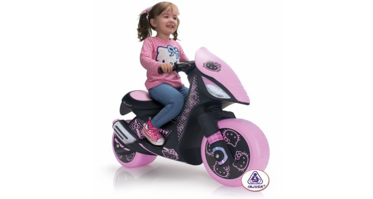 Motocicleta electrica Hello Kitty 6V Injusa poza kivi.ro
