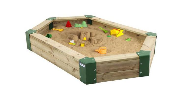 Cutie de nisip din lemn