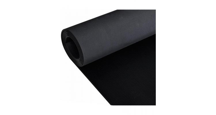 Covor de cauciuc anti-alunecare, 1,5 x 2 m, 3 mm, nervuri fine imagine 2021 kivi.ro