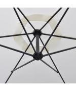 Umbrela de soare 3 m, Alb Nisip