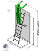 Scara din aluminiu cu 9 trepte
